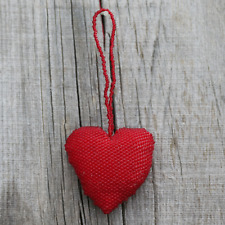 NATIVE AMERICAN ZUNI BEADED HEART ORNAMENT BY PATSY & ARMOND WAIKANIWA