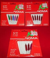 Vintage Noma Pack Total 13 Bulbs- Mini Bulbs Replacement-8 Red,5 Multi-KH