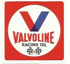 Valvoline Square Racing Oil Vintage Retro Sticker