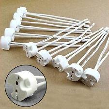 10X MR16 GU5.3 Socket LED Lamp halogen Light Holder base Ceramic Wire Connector