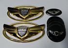 7pcs Goldn Wing Car Emblem Badge For Hyundai Genesis Coupe 2011-2015