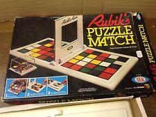 VINTAGE con Rubiks Puzzle Match Gioco di Piastrelle da IDEALE RARO 1982 COMPLETO