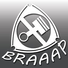 1x FUNNY MAZDA rx8 motore rotativo Decalcomania In Vinile Braaap Auto Adesivo | JDM | Wankel