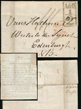SCOTLAND 1816 LETTER FORBES re BETTY CAMPBELL NAME ELIZABETH + ADDL.1/2d BOXED