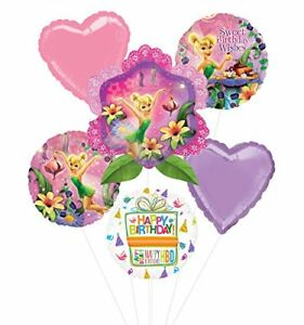 Tinkerbell Birthday Party Supplies and Balloon Bouquet Decorations