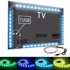 1M USB LED RGB Strip Light TV Backlight Desk Bar Decor Lamp SMD 3528  Flexible