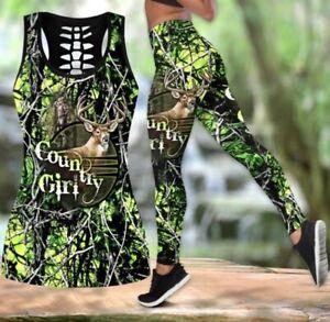*NEW* Women's Country Girl XL Seamless Yoga Casual Top+Leggings Set NICE ~👀~