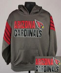 Arizona Cardinals Sweatshirt Boys XS Gray Graphic Logo Kids Hoodie New ST160