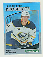 2019-20 UD PARKHURST PROMINENT PROSPECTS #PP-11 VICTOR OLOFSSON RC Rookie Sabres