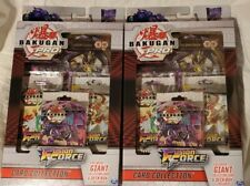 (2) TWO box's Bakugan Pro Fusion Force Booster Packs w/ Collector's Card & Deck