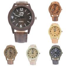 Retro Unisex Partner Uhr Armbanduhr Quarzuhr Analoguhr Uhr Holzuhr Geschenk Neu