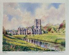 Beautiful Limited Edition Signed Print ''Fountains Abbey'' - by Scot Howden