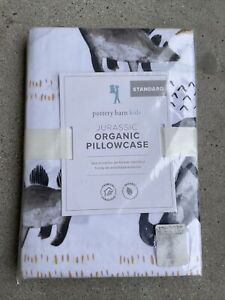 Pottery Barn Kids Jurassic Standard Pillowcase Dinosaur Organic Cotton Dino PBK