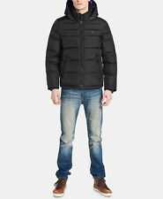 Tommy Hilfiger Mens Quilted Puffer Jacket in Black 14743...