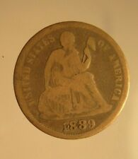 1889 Silver Seated Liberty Dime Circulated Good Condition