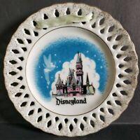 "Vintage Rare Disneyland Castle Tinker Bell 6"" Mini Plate Walt Disney Japan"