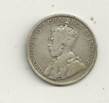1911 CANADA NEWFOUNDLAND 92.5% SILVER 50 CENT Mintage 200,000  #2