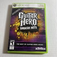 Guitar Hero: Smash Hits (Microsoft Xbox 360, 2009) Complete Video Game Free Ship