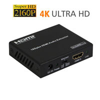 UHD 4k HDMI 2.0 audio extractor HDR HDCP 2.2 De-Embedder digital analog splitter