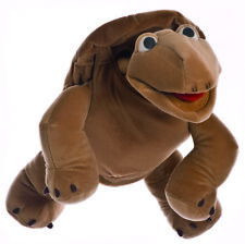 Handpuppe Sammy die Schildkröte groß Maul bespielbar Bauchrednerpuppe NEU