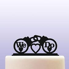 Handcuff We Do Text Acrylic Wedding Cake Topper Decoration & Keepsake