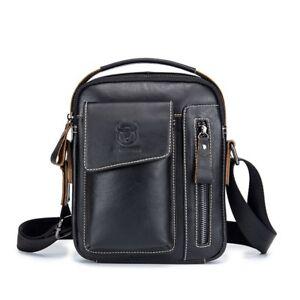 Men Genuine Leather Shoulder Bag Business Messenger Satchel Crossbody Handbag