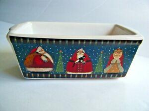 Nantucket Home For Holiday Mini Bread Loaf Baking Pan Santa Christmas