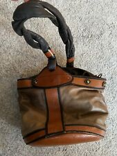 Genuine FENDI Palazzo Roma bag satchel bucket Brown Leather / Tan ** vintage **
