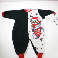 Childs Vintage Fleece Christmas Sleeper Snugabye Convert-A-Foot New with Tag!