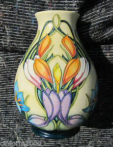 Moorcroft Numbered Vase - 'Spring Pearl' by Philip Gibson First Quality Perfect