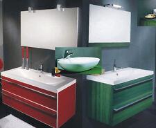 MOBILE da Bagno PER arredo con lavabo CERAMICA O CRISTALLO Cloe 90 in 23 colori