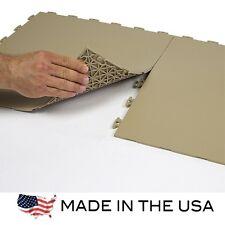 Garage Flooring Flexible PVC Flat Top - Sample KIT - Beige - Made In USA