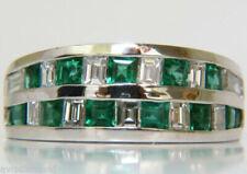 Anillos de joyería con gemas de platino diamante