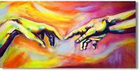 """Abstrakte Malerei """"Zwei Hände""""  Leinwandbild Original Handgemalt Art. Nr. 920"""