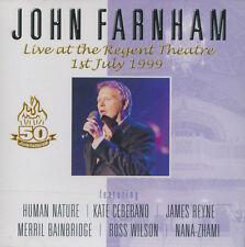 "JOHN FARNHAM ""LiveAtTheRegentTheatre"" 1999 18Trk CD *HumanNature *RossWilson"