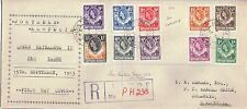 N Rhodesia 1953 FDC 1/2d - 1s 10] Definitives Livingstone Sep 15,
