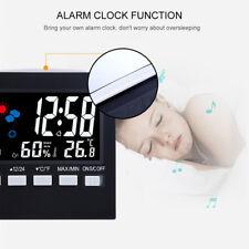 Densímetro Termómetro Reloj de temperatura interior al aire libre de Humedad Monitor UK-ME9