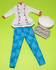 BAKER JACKET PANTS HAT PAN ORIGINAL BARBIE DOLL NEW CLOTHES ACCESSORIES MATTEL