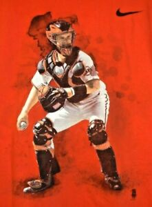 Buster Posey T Shirt Men's Nike San Francisco SF Giants Size Large Baseball tee