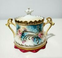 RS Prussia Sugar Bowl with Lid hand painted and gilded