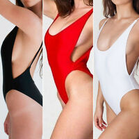Sexy One Piece Swimwear Women High Cut Monokini Backless Beach Swimsuit Bikini