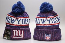 New York Giants NYG  Football Beanie Cap Hat Kint Pom Winter Unisex Thicken