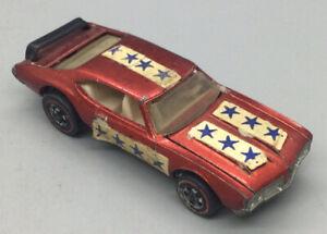 Vintage 1969 Hot Wheels Redline Red Olds 442