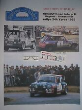 DECAL ADD1/ 43 - RENAULT 5 MAXI TURBO - RAGNOTTI - 1er RALLYE 24h YPRES 1985