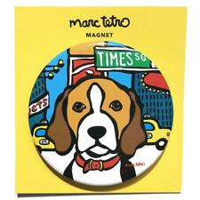 "*NWT* Marc Tetro - Beagle in Times Square, NYC Blue Magnet 3"" Round"