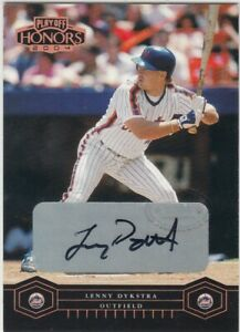 LENNY DYKSTRA /100 PHILLIES AUTO 2004 PLAYOFF HONORS BRONZE SIGNATURE AUTOGRAPH
