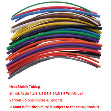 Schrumpfschlauch 7mm-14mm  2:1 3:1 4:1 Für Auto Kabel Elektrisch DIY Alle Farbe