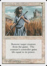 MTG X1: Swords to Plowshares, 4th Edition, U, Moderate Play - FREE US SHIPPING!