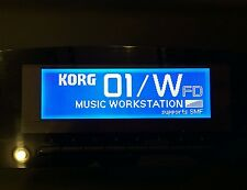Korg 01/W T1 T2 T3 i2 i3 Wavestation A/EX D Oberheim OB-12 display grafico!