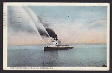 Superior-Wisconsin-Fire Tug Boat-McGonagle-Vintage Postcard